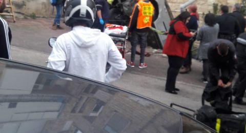 حيفا: اصابة ثمانينية في حادث طرق في شارع عباس