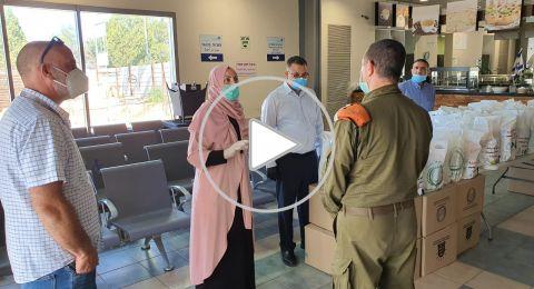 النائب إيمان خطيب ياسين وجمعية الإغاثة يستقبلان على المعبر طلابنا العائدين من الأردن