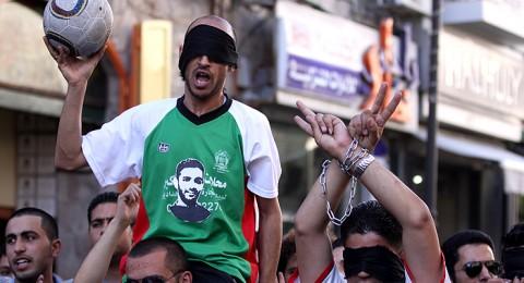 شوارع رام الله تتحول إلى ملاعب كرة قدم