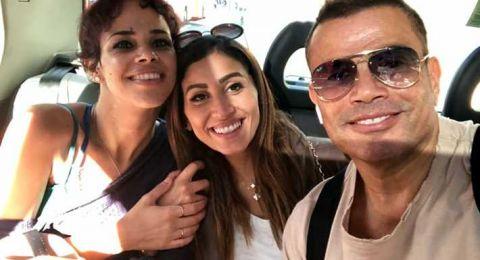 عمرو دياب يجمع بين ابنته نور ودينا الشربيني في هذه الصورة