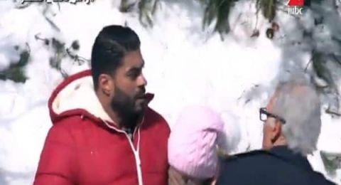 """خالد سليم يطرح رامز جلال في الهواء بعد علمه بمقلب """"رامز تحت الصفر"""""""