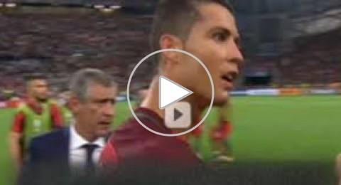 كيف اجبر كريستيانو زميله موتينيو على تسديد ضربة جزاء ضد بولندا