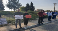 تظاهرة احتجاجية لإنهاء معاناة أزمة السير الخانقة على دوار المشهد الرينة