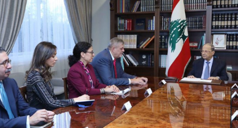 الرئيس اللبناني: هنالك ضرورة للحوار مع المتظاهرين والتوصل إلى تفاهم