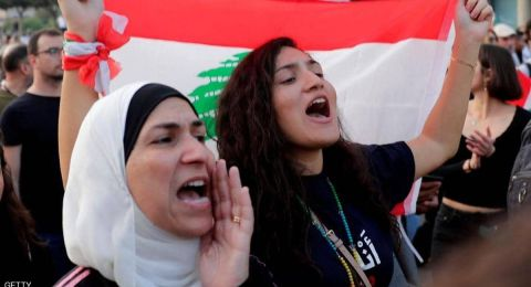 لبنان.. الاحتجاجات وأنصار عون وجها لوجه في