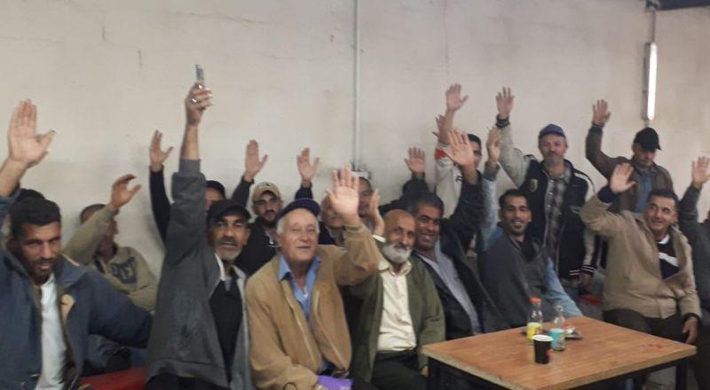 نزاع عمل واضراب في مصنع الأغذية في منطقة عطروت الذي يشغل العمال الفلسطينيين ياجور زهيدة