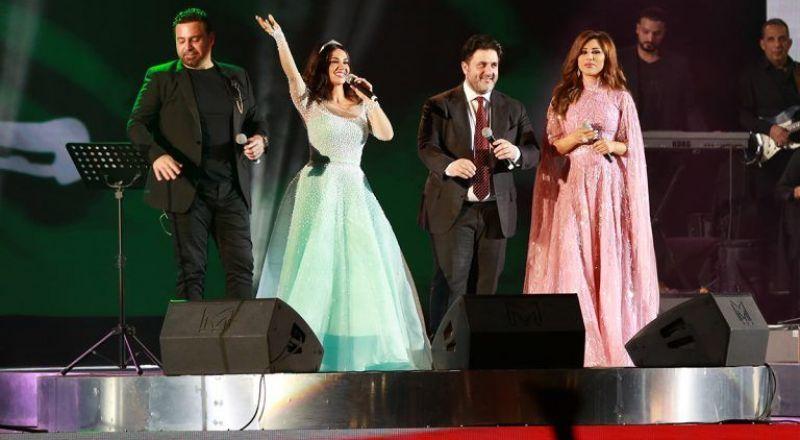 ديانا حداد ترد على اتهامها بالتغطية على صوت نجوى كرم في حفلة ليلة بيروت بالرياض