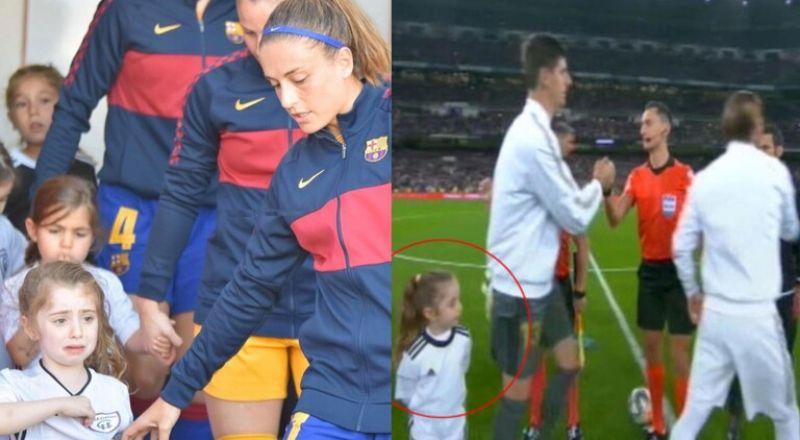 ريال مدريد يحقق حلم طفلة بكت بسبب برشلونة