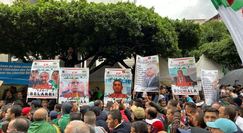آلاف الجزائريين يتظاهرون في الجمعة الـ38