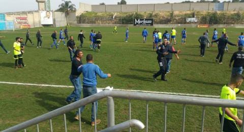 شجار ينهي مبارة كرة قدم بين فريقي يافة الناصرة وبسمة طبعون