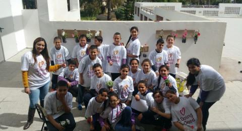 التحضير ليوم الاعمال الخيرية في عكا