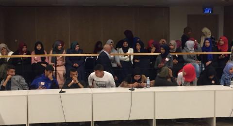 النائب طلب أبو عرار يستضيف طلاب مدرسة الفاروق الثانوية الشاملة كسيفة في الكنيست