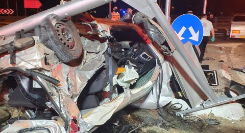 النقب: اصابة 3 سيدات بصورة خطرة اثر حادث بين سيارة وحافلة