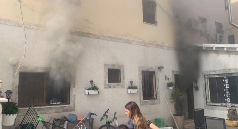 حريق في منزل بقلنسوة .. وتخليص مصابتين