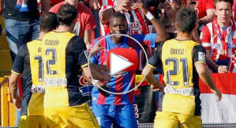 """بعد """" موزة """" ألفيس .. شاهد كيف كان رد لاعب ليفانتي على عنصرية جماهير اتلتيكو مدريد"""