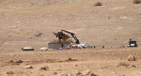 اسرائيل تهدم خربة حمصة الفوقا بالأغوار وتحاول تهجير المواطنين
