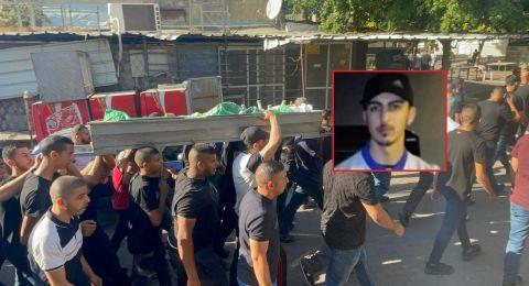 جماهير كفرقاسم تشيع ضحية العنف احمد عيسى
