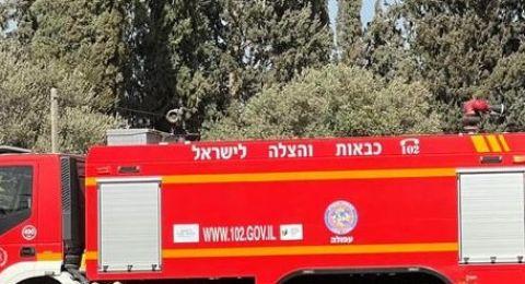 إصابة طفلين بحريق في منزل بقرية معاوية