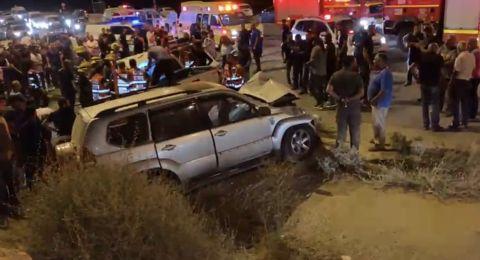 10 اصابات بحادث طرق مروع في عرعرة النقب