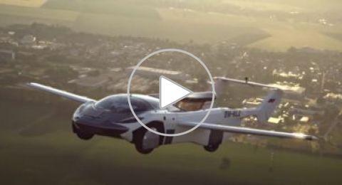 رحلة خيال علمى.. فيديو الجولة التجريبية للسيارة الطائرة فى سماء سلوفاكيا