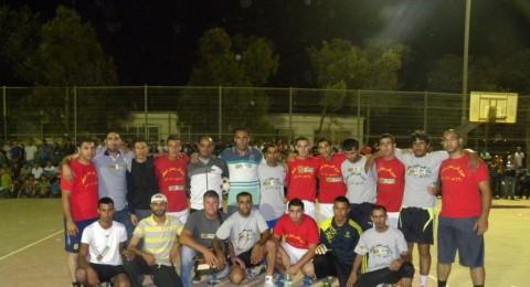 عرعرة النقب: انتهاء عرس رياضي كبير لنهائي كأس دوري رمضان 2013 وفوز فريق المغفرة