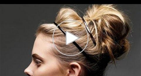 تسريحة شعر مرفوعة تحفة سهلة وبسيطة