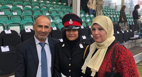 لأول مرة.. فتاة فلسطينية تتخرج من الأكاديمية العسكرية الملكية في بريطانيا
