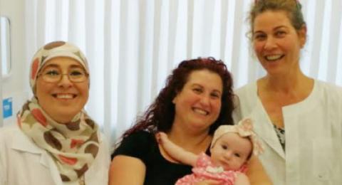 بعد التعرّض للاجهاض خمس مرات، مواطنة في كرميئيل تلد طفلتها الأولى