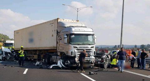 إصابات بينها حرجة بحادث طرق مروع قرب حيفا