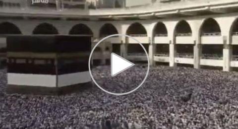 مشهد مهيب لامتلاء صحن المطاف والأدوار العلوية بحجاج بيت الله الحرام