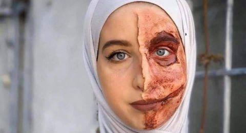 فلسطينية تبرع في المكياج السينمائي