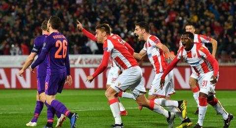 دوري أبطال أوروبا: النجم الأحمر يصعق ليفربول بثنائية ويُعقِّد المجموعة الثالثة