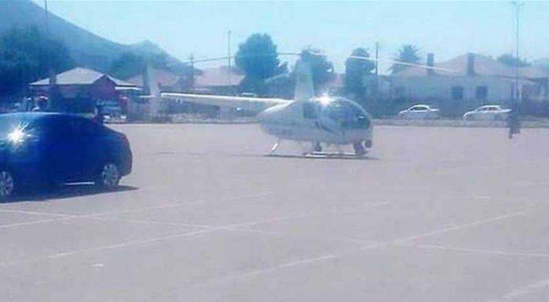 في موقف غريب.. ضابط يهبط بمروحيته لشراء وجبة طعام!