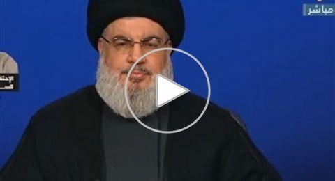 مباشر: كلمة السيد نصر الله في أعقاب اغتيال الجنرال سليماني والمهندس