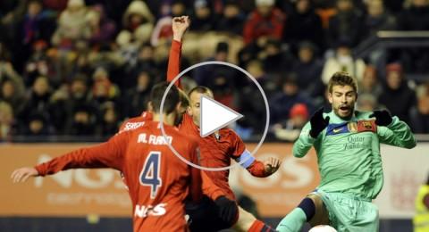 أوساسونا يهزم برشلونة ... هدية الحب لريال مدريد