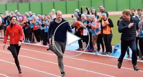 الأمير هاري يتحدى الأمير ويليام بالركض