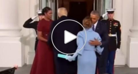 شاهدوا: مغادرة أوباما للبيت الأبيض على الطريقة المصرية