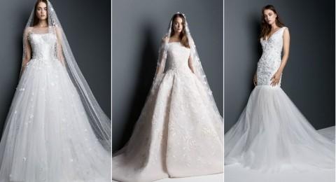 بالصور: فساتين زفاف جديدة للمصمم اللبناني جورج حبيق .. الرومانسية عنوانها