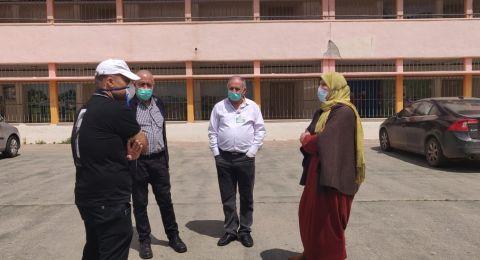 النائب إيمان خطيب ياسين في زيارة تفقدية لمحطة فحص الكورونا التابعة لكلاليت في الناصرة