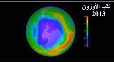 تغير في حجم ثقب الأوزون وتقلصه