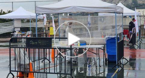 الرينة: محطة فحص الكورونا بدأت عملها بإجراء الفحوصات للمواطنين