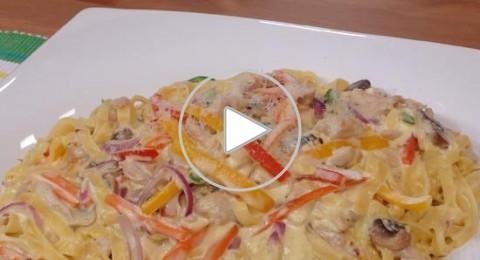 طبق اليوم:فيتوتشيني بالخضروات، صحة وهنا
