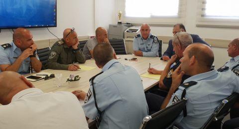 رئيس بلدية الناصرة يلتقي قيادة الشرطة في لواء الشمال