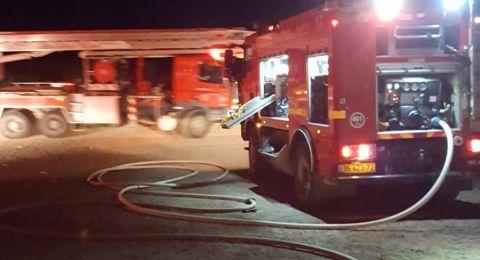 الطيبة: نشوب حريق بحانوت بمحطة وقود