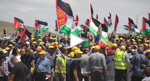 الآلاف يشاركون في مسيرة العودة الـ22 على أراضي خُبّيزة المُهجّرة