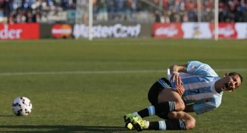 دي ماريا يتعرض للإصابة في أوتار الركبة بعد 30 دقيقة من بداية نهائي كوبا أمريكا