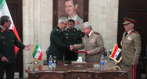 اتفاقية شاملة للتعاون العسكري بين سوريا وإيران