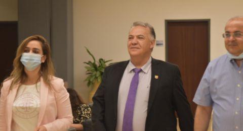 بيان صادر عن بلدية الناصرة علي سلاّم يلتقي وزيرة المواصلات ميري ريجف في الكنيست