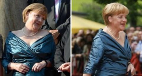 ميركل ترتدي نفس الفستان في مناسبتين