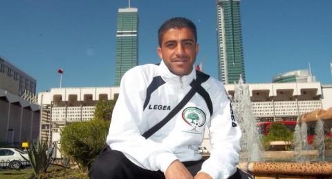 الفحماوي احمد حربي مع بعثة المنتخب الفلسطيني في الهند